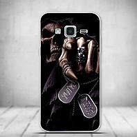 Силиконовый бампер для Samsung Galaxy J3 J300 с рисунком Рука смерти