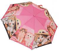 Женский зонт коты 3558/1 pink
