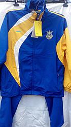 Костюм спортивний України Boulevard FH-877 дорослий синьо-жовтий