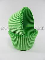 Бумажныя формы для маффинов высокие (зеленый цвет)