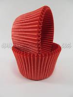 Бумажныя формы для маффинов высокие (красный цвет)