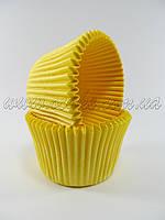 Бумажныя формы для маффинов высокие (желтый цвет)