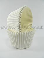 Бумажныя формы для маффинов высокие (белый цвет)