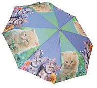 Женский зонт коты 3558/2 blue/green