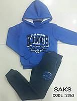 Теплый спортивный костюм для мальчиков подростковый Электрик размеры: 152,158,164,170,176