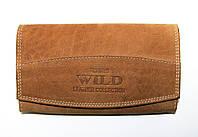 Вместительный кожаный кошелек Always Wild светло-коричневый