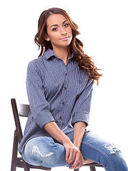 Женская рубашка в клеточку