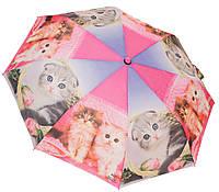 Женский зонт коты 3558/5 pink/violet