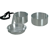 Набор посуды в поход KingCamp CAMPER 2 (Silver) KP3901