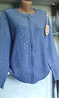 Женский свитер на замке большого размера