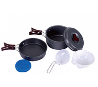 Набор посуды в поход KingCamp Climber I (Light grey)