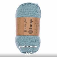 Kartopu Melange Wool - 5017 лазурний