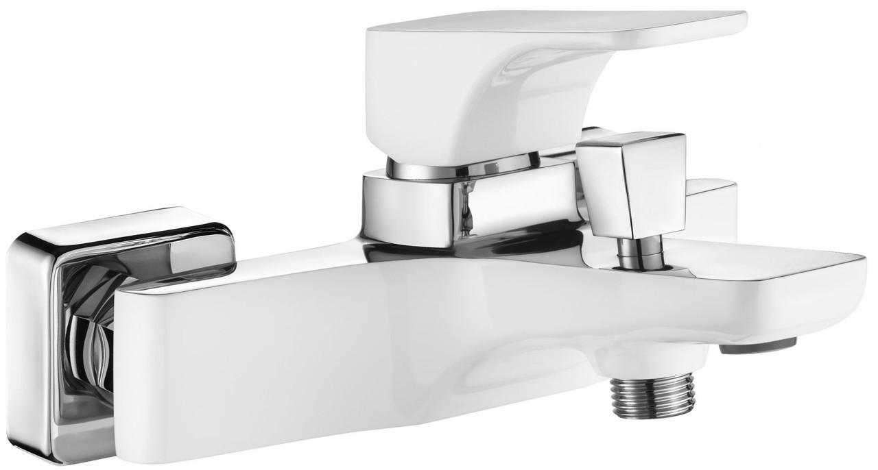 Смеситель для ванны Deante HIACYNT без душевого комплекта, хром/белый