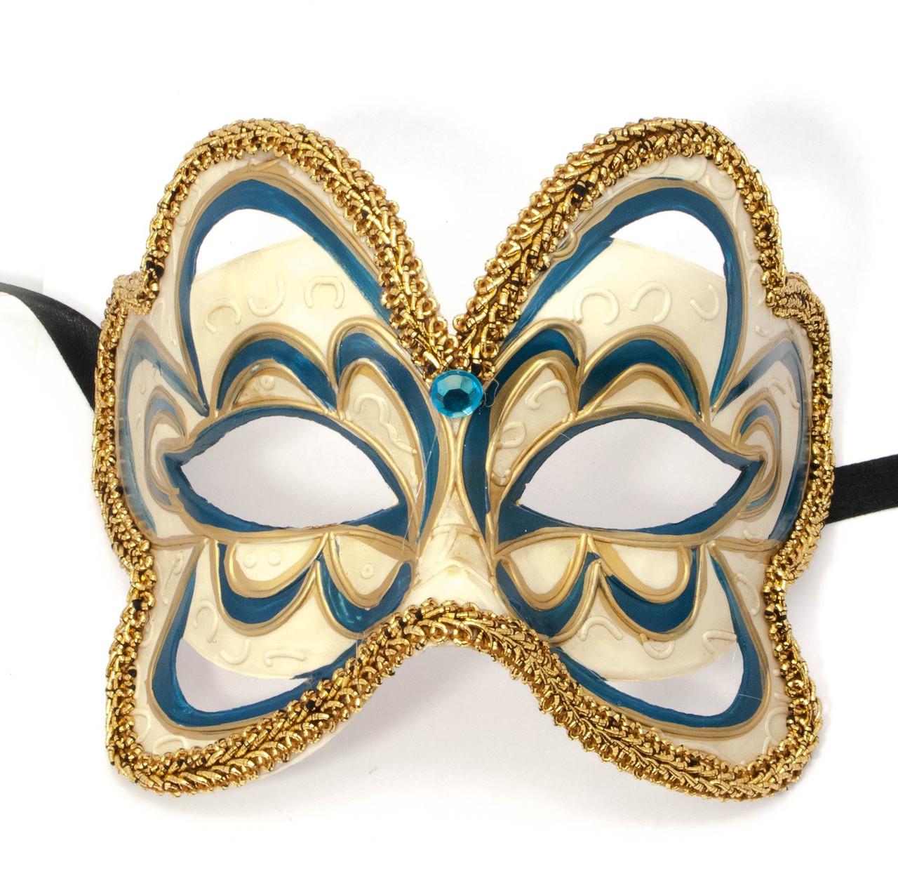 Маска для карнавала синяя