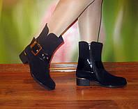 Замшевые ботинки зимние женские, в наличии 38 размер