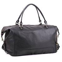 Кожаная дорожная сумка большая С-4 черная