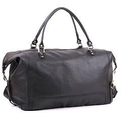 Шкіряна дорожня сумка велика З-4 чорна