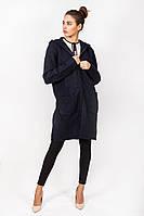 Куртка женская  вязаная на замке с капюшоном