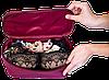 Прямоугольный органайзер для косметики ORGANIZE (винный), фото 3
