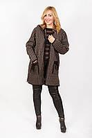 Куртка женская вязаная на замке с карманами