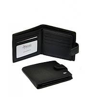 Мужской кошелек Dr. Bond из натуральной кожи. Портмоне мужское. Черный и коричневый цвет., фото 1