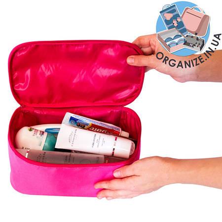 Прямоугольный органайзер для косметики ORGANIZE (розовый)
