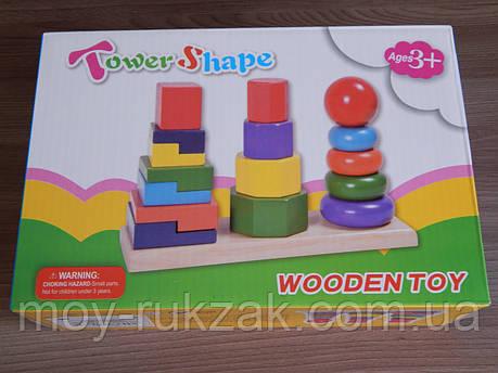 """Игра деревянная """"Пирамида"""", фото 2"""