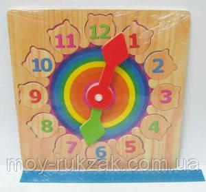 """Игра """"Часы"""" деревянные 27см, фото 2"""