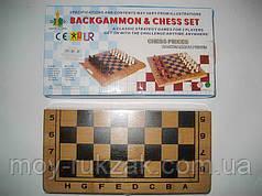 "Игра настольная ""Шахматы + Backgammon"", деревянная коробка"
