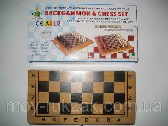 """Игра настольная """"Шахматы + Backgammon"""", деревянная коробка, фото 2"""