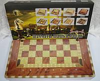 """Игра настольная """"Шахматы, шашки, нарды 3 в 1"""", деревянная коробка 30 см."""