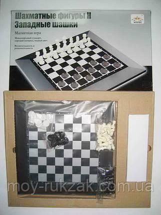 """Игра """"Шахматы и шашки магнитные"""" поле 230*230 мм., фото 2"""