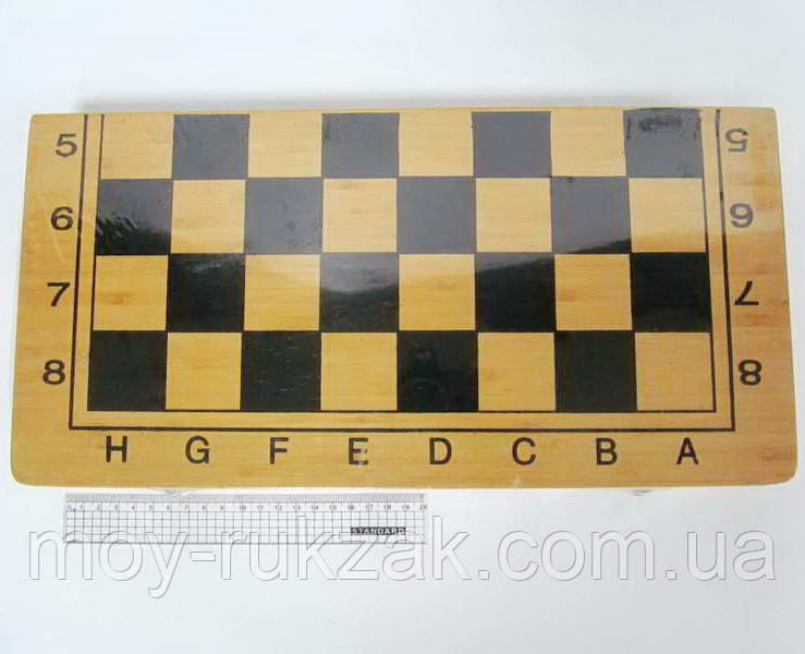 "Игра ""Шахматы, шашки, нарды 3 в 1"", деревянная коробка 50*50 см."