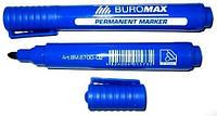 Маркер перманентный круглый острый 2-4 мм., стержень синий. BuroMax