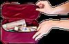 Прямоугольный дорожный органайзер для белья ORGANIZE (винный), фото 4