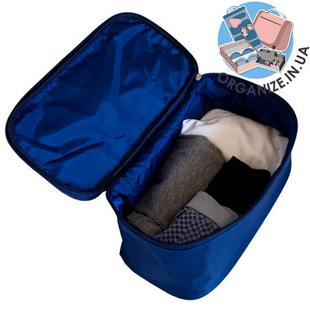 Прямоугольный органайзер для туалетных принадлежностей ORGANIZE  (синий)