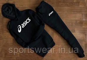 """Спортивный чёрный костюм Asics с капюшоном  """""""" В стиле ASICS """""""""""