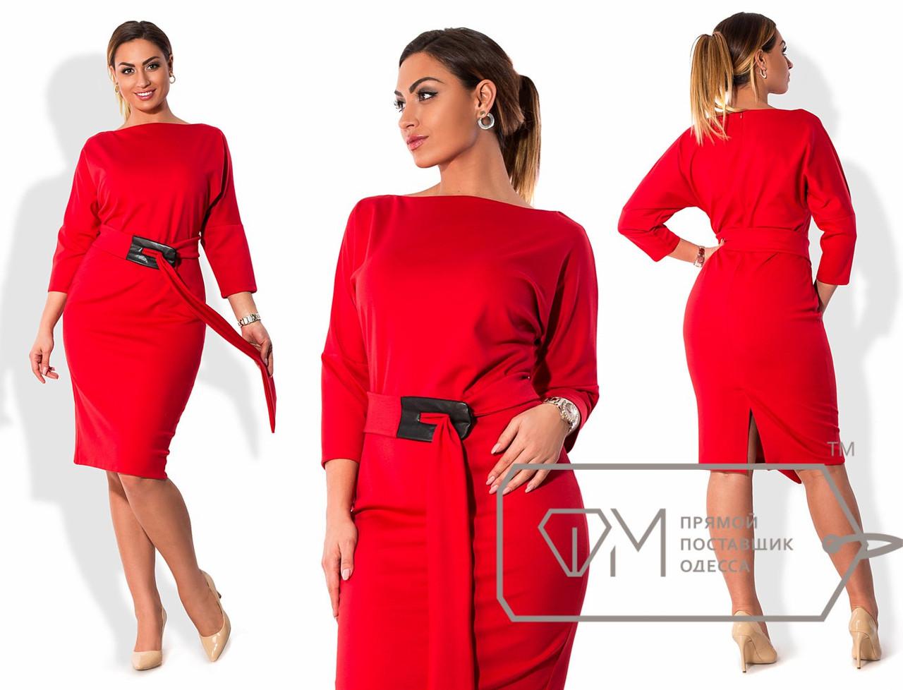 Женское трикотажное платье большого размера 48-54