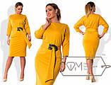 Женское трикотажное платье большого размера 48-54 , фото 3