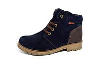 Ботинки Зимние Кожаные Elastomer Black Модель: 396 син замш пидр