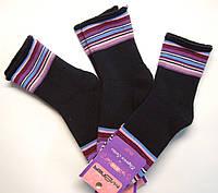 Носки женские с махрой без резинки черные