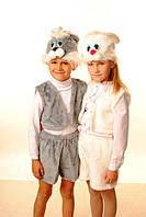 Карнавальный костюм серого зайчика