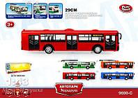 """Автобус PLAY SMART серии """"Автопарк"""" -  инерционный, открываются двери, свет, музыка."""