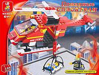 """Конструктор SLUBAN """"Пожарные спасатели"""", 155 деталей"""