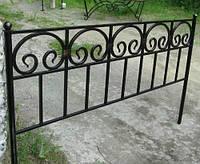Оградка на кладбище кованая арт.рт 17, фото 1