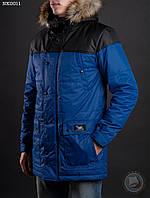 Зимняя куртка (парка) Staff - INTERNO Art. NK0011 (чёрный \ синий)