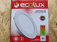 Светильник светодиодный встраиваемый EcoLux 75 диодов = 15 W = 125 W