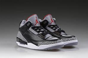 Мужские кроссовки Nike Air Jordan 3 Black Cement 136 064 001, Найк Аир Джордан 3, фото 2