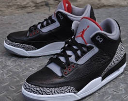 Мужские кроссовки Nike Air Jordan 3 Black Cement 136 064 001, Найк Аир Джордан 3, фото 3