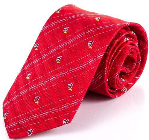 Мужской шелковый галстук SCHONAU & HOUCKEN FARESHS-02 красный